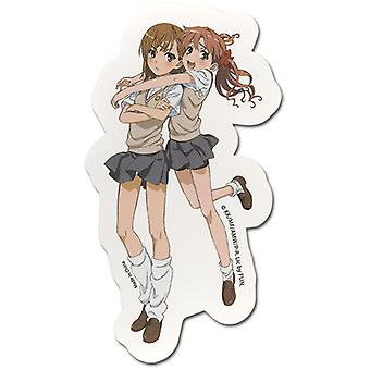 Sticker - Certain Scientific Railgun - New Kuroko Hugging Miko Licensed ge55305