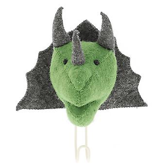 Fiona Walker England Big Felt Triceratops Head Coat Hook