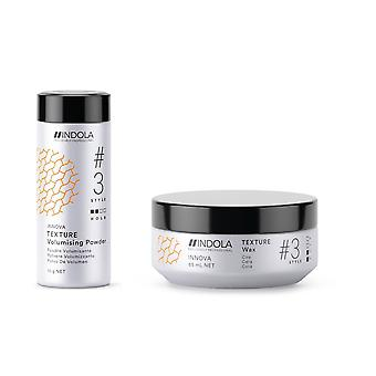 Indola Innova Texture Volumizing Powder 10g and Wax 85ml