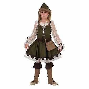 Robin Hood Girl Kids Costume Lady Marian Girls Fairytale Children Costume Costume Carnaval