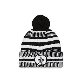 New Era Nfl New Orleans Saints 2019 Sideline Home Black/white Sport Knit