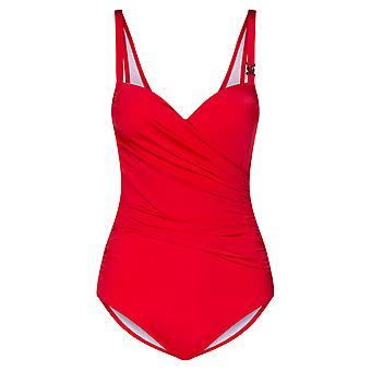 Féraud 3889504-11672 Women's Beach Cherry Red Costume One Piece Swimsuit