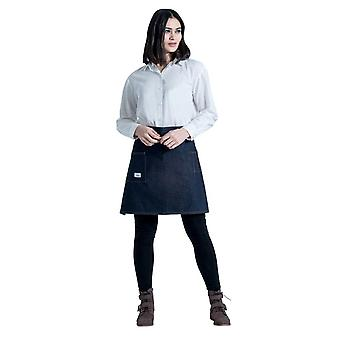 Timperley denim barista apron cream strap