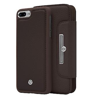 Marvêlle iPhone 7/8 Plus Magnetic Case & Wallet Dark Brown Chic Basic