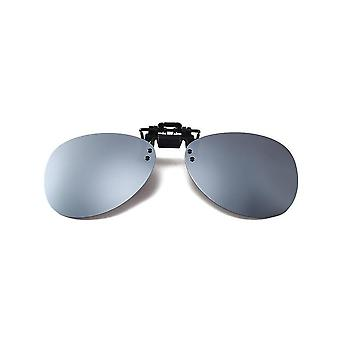 Oval glasses clip on/flip up polarized UV