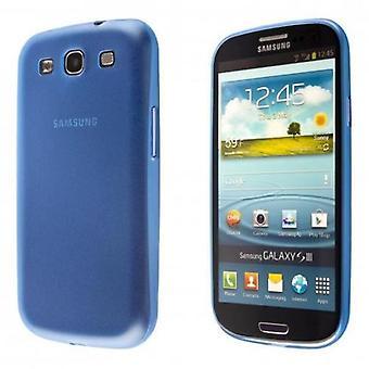Samsung Galaxy S3 TPU Shell-transparent blå + skjermbeskyttelse