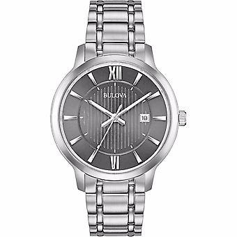 ブローバ 96B281 メン&アポス s クラシック グレー ダイヤル腕時計