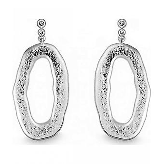 Quinn - Silver Earrings with Brilliant 0.04 ct - 0358869