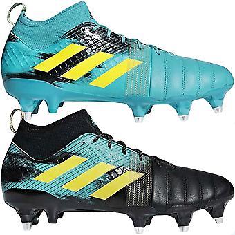 adidas Performance Mens Kakari X Kevlar SG Rugby Training Shoes Boots - Black