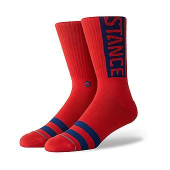 Stance OG Crew Socks in Dahlia Red