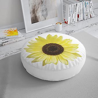 Almofada do assoalho de Meesoz - flor amarela do sol