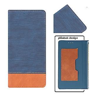 Huawei P9 lite mini topp kvalitet Mobil lommebok-blå
