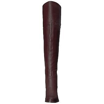 Franco Sarto Womens Ollie Leather Almond Toe Knee High Fashion Boots