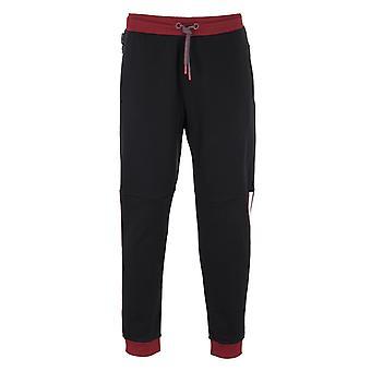 Armani Exchange Kontrast Streifen schwarze Sweatpants