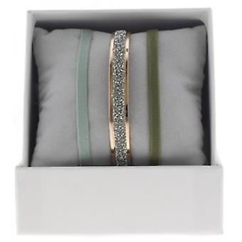 Boksen udskiftelige A49371 - ring bånd 4 mm stof ornamenter Rose Gold / krystal kvinde
