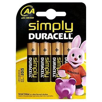 Batterie alcaline DURACELL Semplicemente DURSIMLR6P4B LR6 AA 1.5V (4 pcs)
