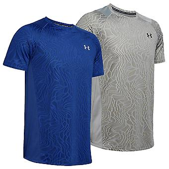 Under Armour mens 2020 Mk1 Jacquard korte mouw Heatgear stretch T-shirt