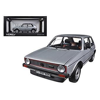 1976 Volkswagen Golf GTi Silver 1/18 Diecast Car Model par Norev
