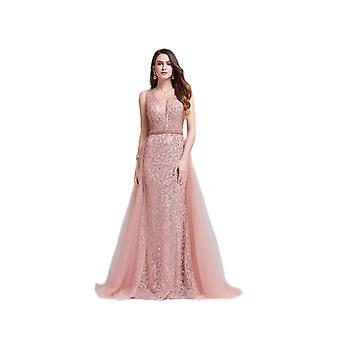 FP Pink Maxi Mesh Hang Glitter Dress