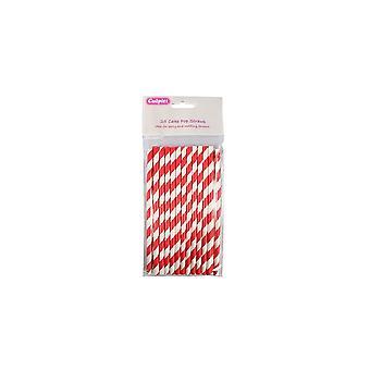 Culpitt Zoom Candy Stripe Cake Pop Straws - Red 25 Piece Print This PageCandy Stripe Cake Pop Straws - Red 25 Piece