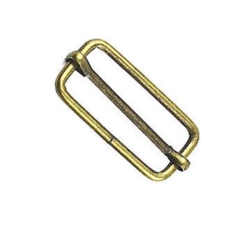 50mm Metal Bronze Triglide Slider Bar Buckle
