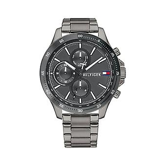 Tommy Hilfiger Wristwatch MEN's Mulit Function Day Weekday BANK 1791719