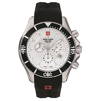 Sveitsin Alpine Military Miesten Watch Chronograph Analoginen Kvartsi 7040.9832SAM Siikon