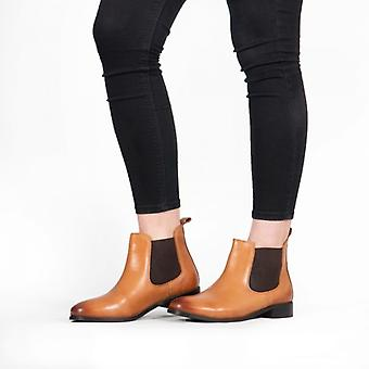 Shuperb Pippa Ladies Leather Chelsea Boots Tan