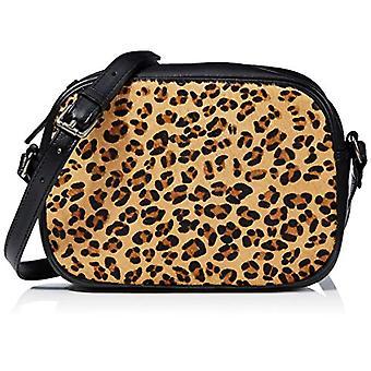 HotterGem Women's strap bag (Black/Leopard)22x16x56 Centimeters (W x H x L)