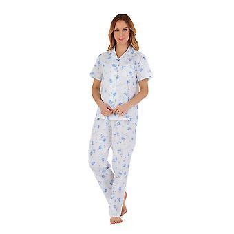 Slenderella PJ55208 Women's Floral Cotton Pyjama Set