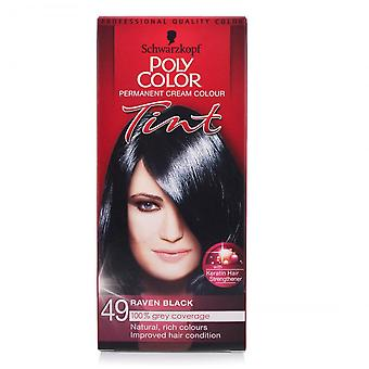 Schwarzkopf 3 X Poli Hair Color Tint - Raven Black 49