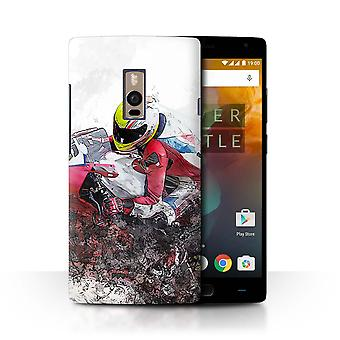 STUFF4 Case/Cover for OnePlus 2/Two/Motorbike Sketch/Fragments