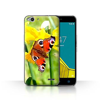 STUFF4 Case/Cover for Vodafone Smart Ultra 6/Butterfly/Floral Garden Flowers
