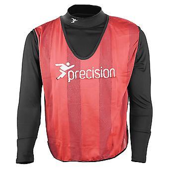 Precision Striped Mesh Football Soccer Training Bib Red