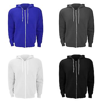 Canvas Unixex Zip-up Polycotton Fleece Hooded Sweatshirt / Hoodie