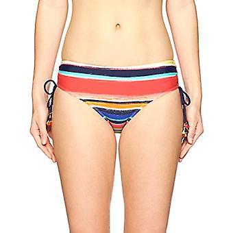 Anne Cole Mujeres's Alex Side Tie Bikini Ajustable, Multi Stripe, Tamaño Medio