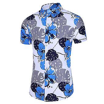 Allthemen Men&s Hawaiian T-shirty Casual Drukowane koszulki z krótkim rękawem