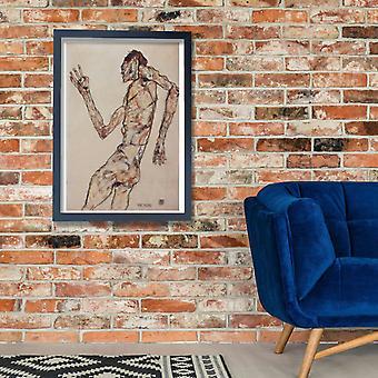 Egon Schiele - Nude Man Poster Print Giclee