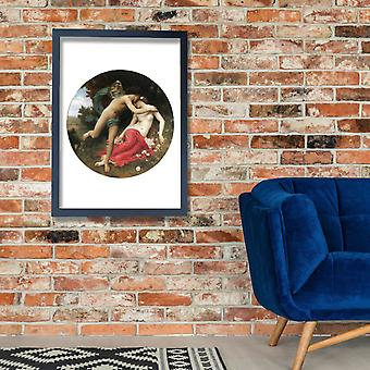 William Bouguereau - Flora And Zephyr (1875) Poster Print Giclee