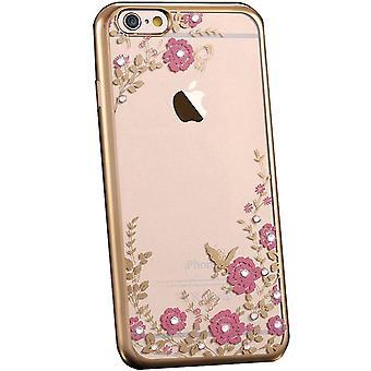 Flower bling  soft gel iphone xs case