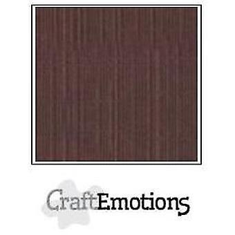 CraftEmotions linnen karton 10 Sh koffie 27x13,5cm 250gr / LHC-75