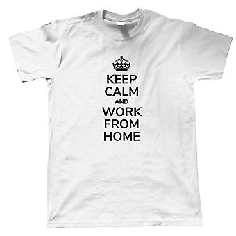 Keep Calm and Work From Home, Mens T-Shirt - Pop Culture Gift Him Dad