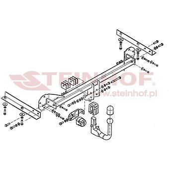 Steinhof Automatik abnehmbare Schleppstange (Vertikal) für Honda CIVIC mk9 2012-2015