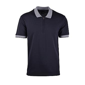 Pal Zileri LAB Pal Zileri Maglia Zip Polo Shirt Blue Navy