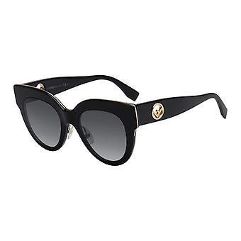 Fendi FF0360/G/S 807/9O Black/Dark Grey Gradient Sunglasses