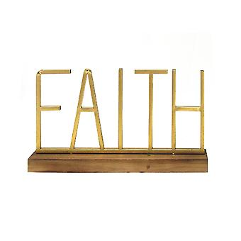 Metal and Wood Faith Table Top