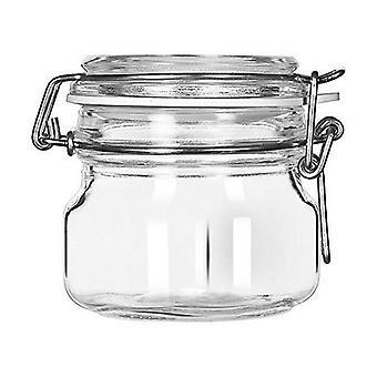 Glass Jar Borgonovo Crystal/200 cc - 7,5 x 7,5 x 8,2 cm