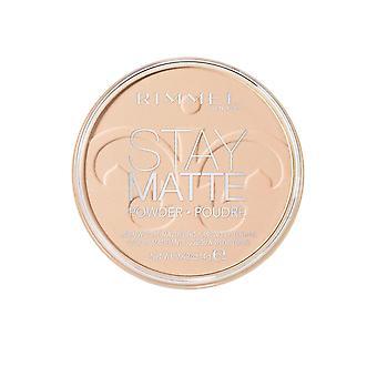 Rimmel London Stay Matte Lightweight Face Powder Mattifying 9Hr 14g Buff Beige #012