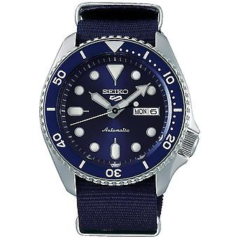 Seiko 5 Sports Blue Dial Canvas Strap Automatic Men's Watch SRPD51K2