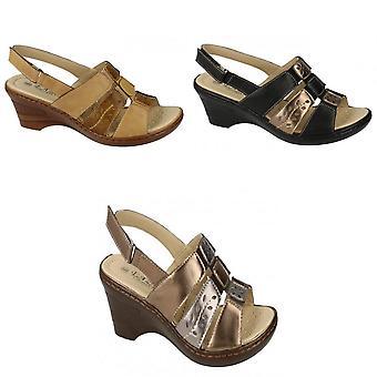 Eaze Womens/Ladies Sling Back Heeled Sandals